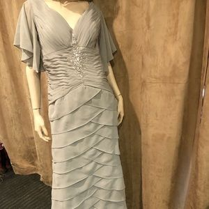NWT Gray Floor Length Gown